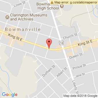 Map Location of  Krown Bowmanville