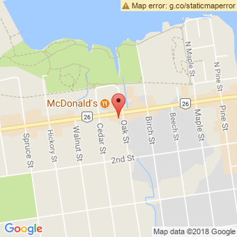 Map Location of  Robertsons Krown & Pennzoil Oil Change