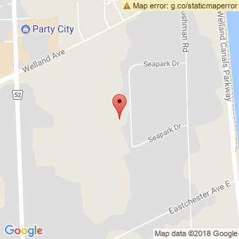Map Location of  Krown St. Catharines