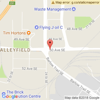 Map Location of  Calgary Fuel Stop