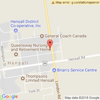 Map Location of  Hensall Automotive Ltd.