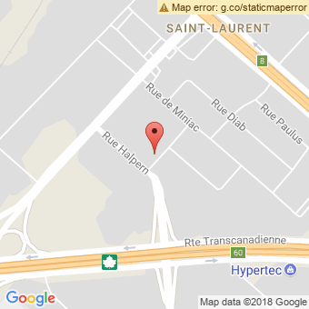 Map Location of  Krown St-Laurent And Grand Motors