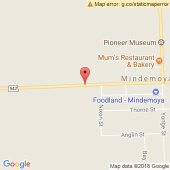 Map Location of  Mindemoya
