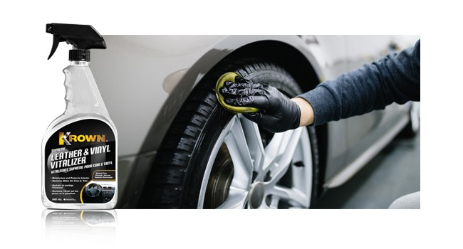 Hand cleanng tire representing Retail Cleaning